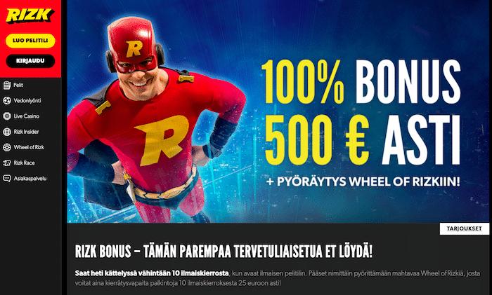 Rizk-kasinon bonus